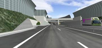 路面の表情 走行シミュレーション